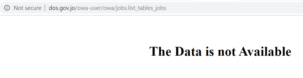 In addition to the website not being secure! The website had no Job Creation data for the second half of 2018 by October 2019